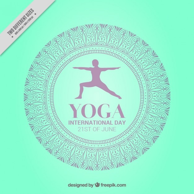 Green international yoga day background