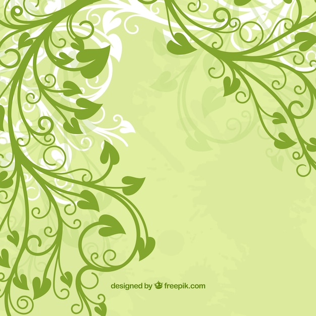 Green Leaf flower Free Vector