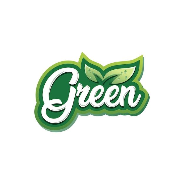 Green leaf logo template Premium Vector