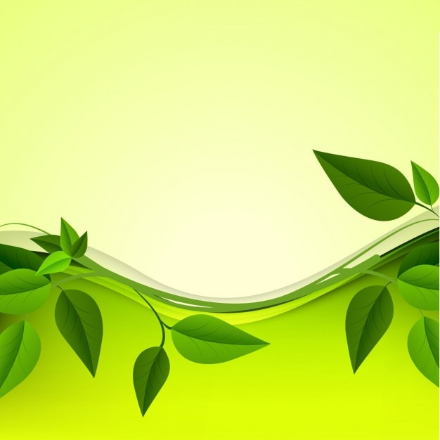 Green Leaves Background Vector Free Download