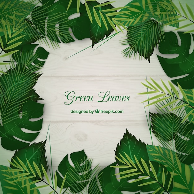 Green Leaves Background Vector Premium Download