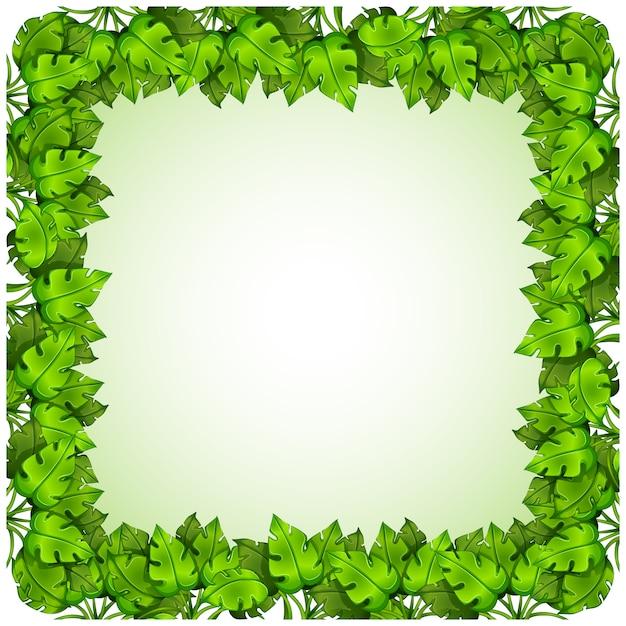 Green leaves frame design Vector   Free Download
