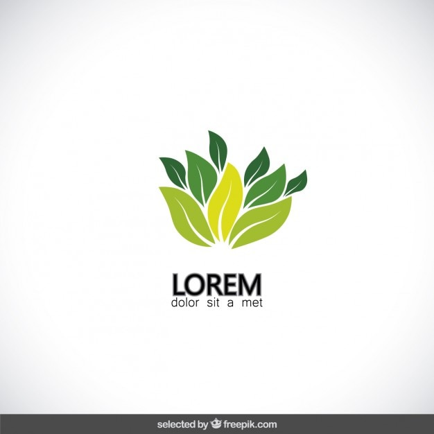 Leaf Logo Text Awesome Graphic Library