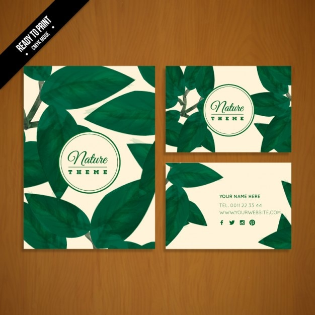 green leaves stationery vector free download