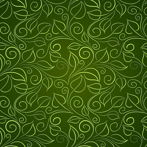 Green leaves. Free Vector