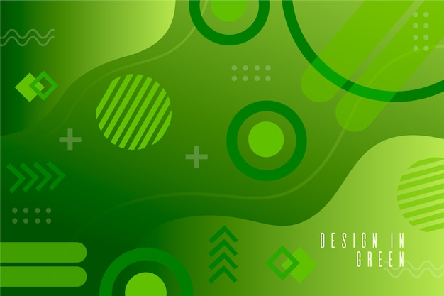 Green liquid effect on geometric background Free Vector