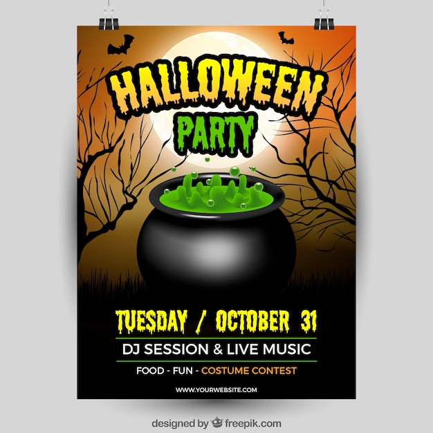 Green magic potion halloween poster