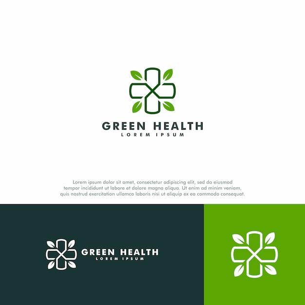 Green medical logo template Premium Vector