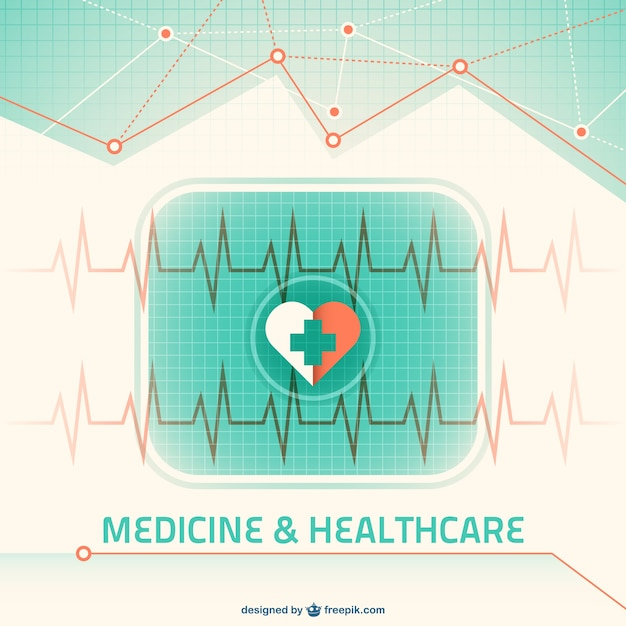 Green medicine background Free Vector