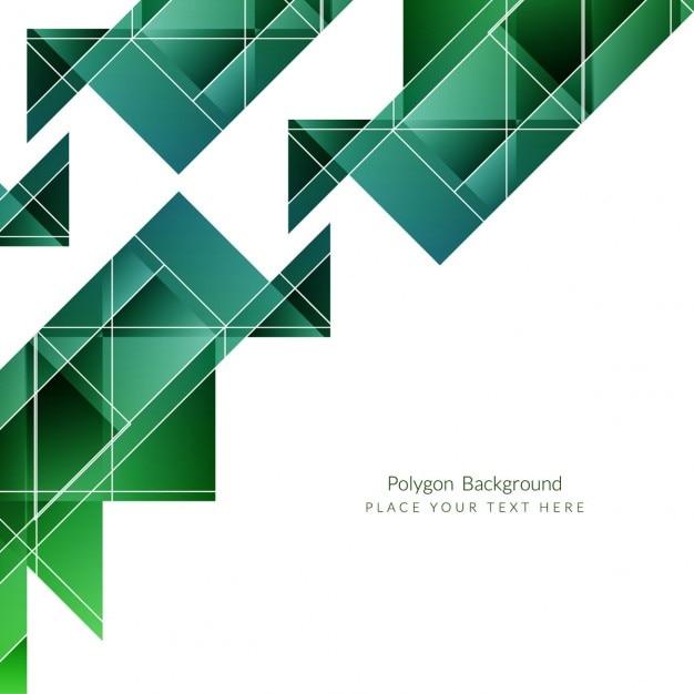 Green modern polygonal background design Vector   Free Download