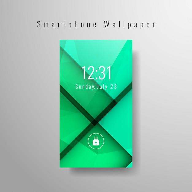 Green modern smartphone wallpaper