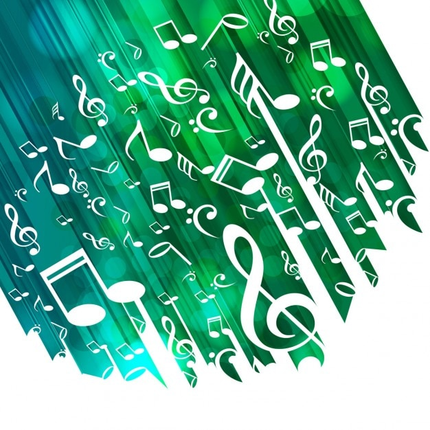 Green musical background Free Vector