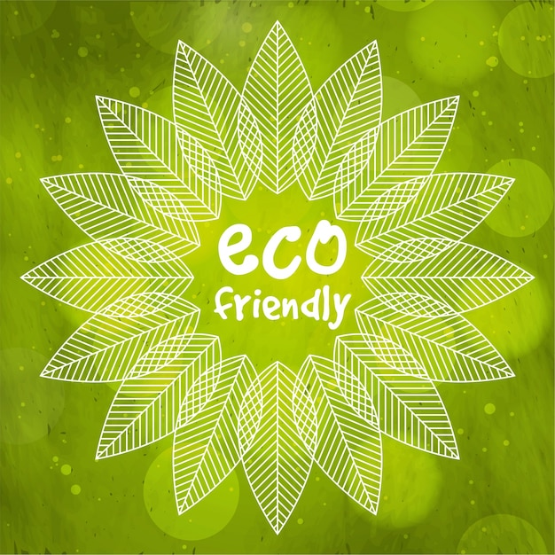 Green nature background with creative leaves\ decoration for Eco Friendly concept.