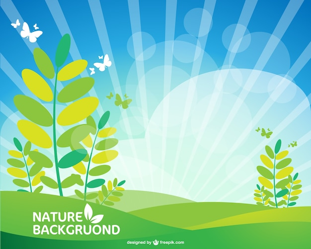 Green nature background Vector | Free Download