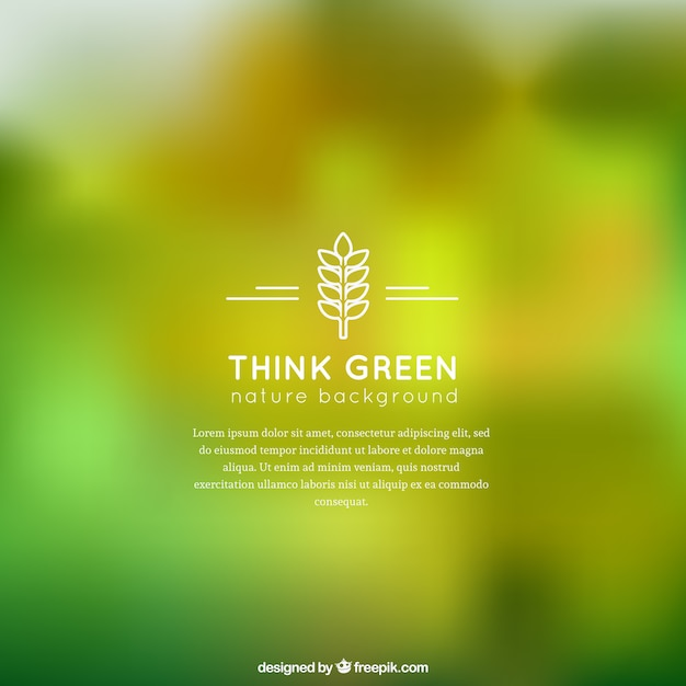 Green Nature Background Vector Free Download