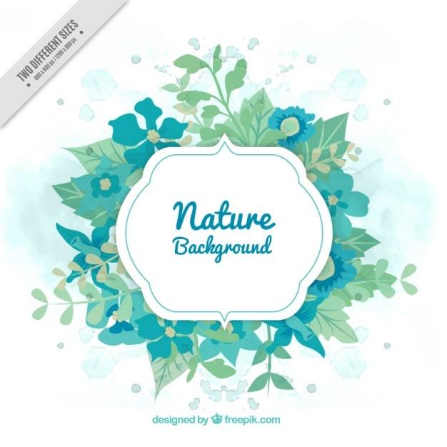 Green nature banner