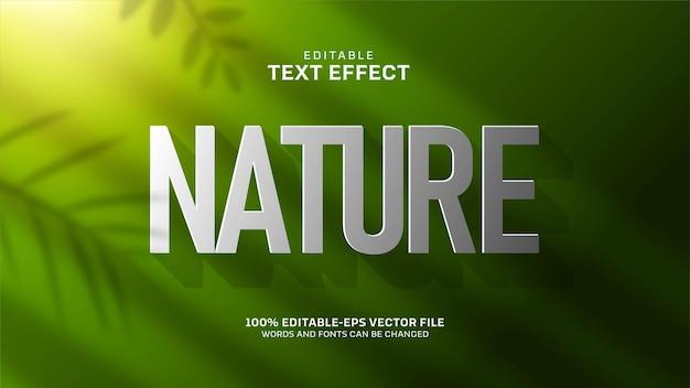 녹색 자연 텍스트 효과 무료 벡터