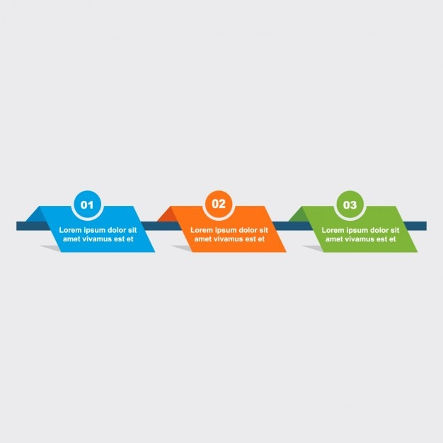Green, orange and blue infographics Free Vector