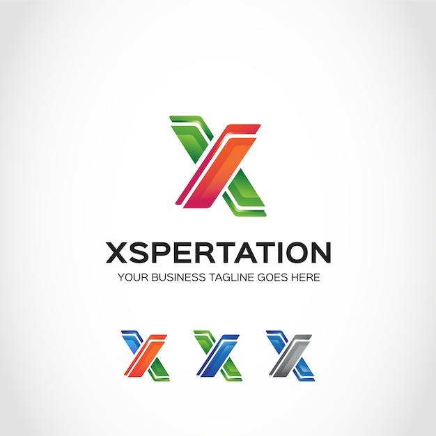 Logo logo verde e arancione x Vettore gratuito