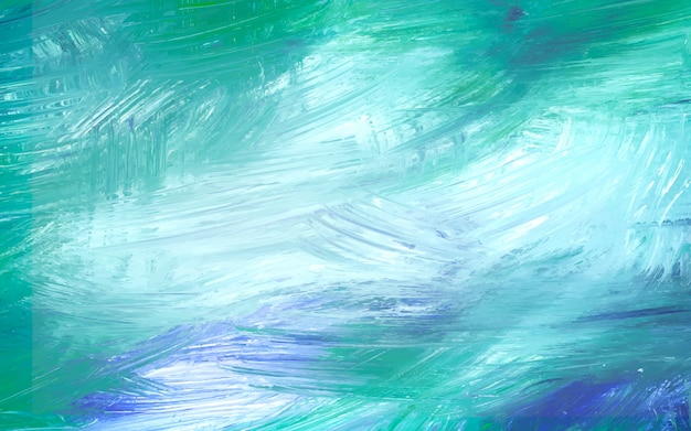 Green painted canvas Free Vector
