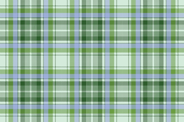Green plaid pixel seamless fabric texture Premium Vector