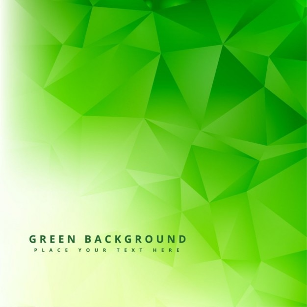 Green polygonal abstract background Free Vector