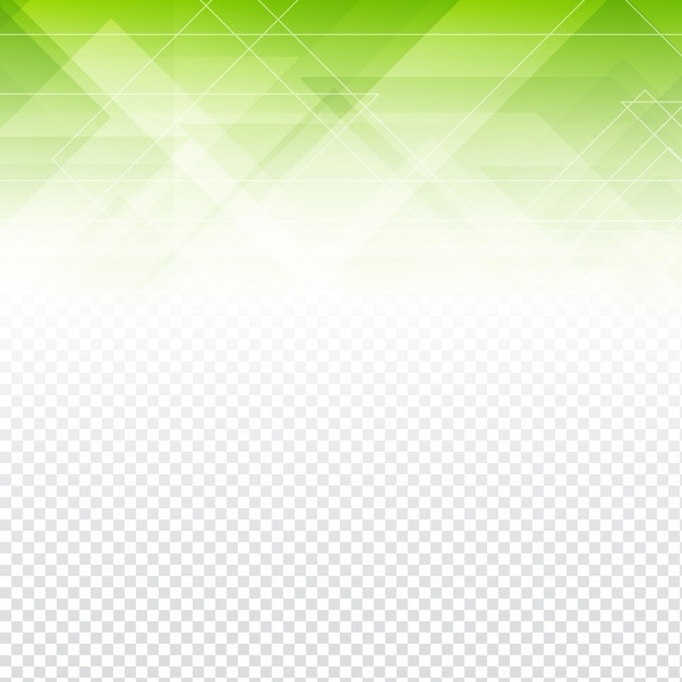 green polygonal abstract shapes with a transparent background vector