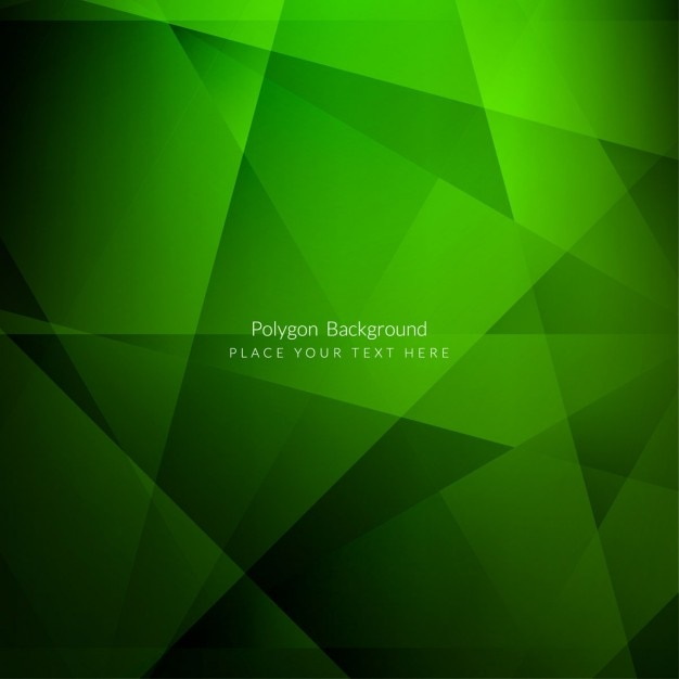 Green polygonal background design Free Vector