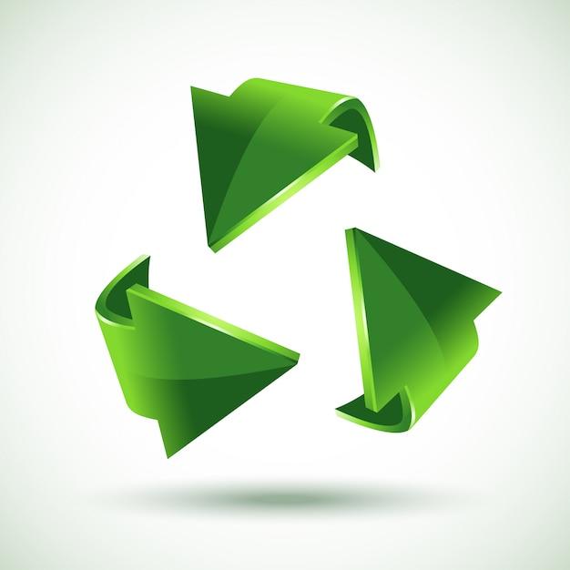 Зеленые стрелки утилизации, Premium векторы