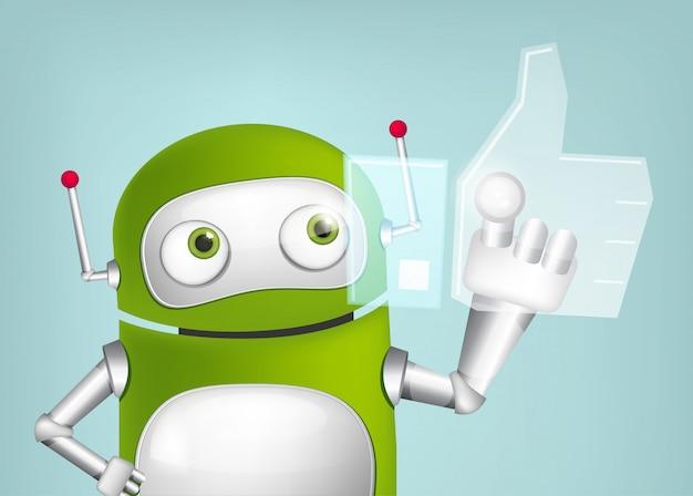 Green robot Premium Vector
