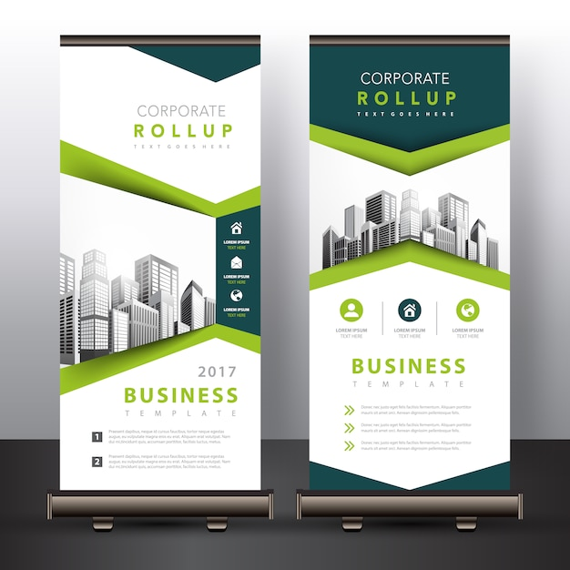 Green roll up Free Vector