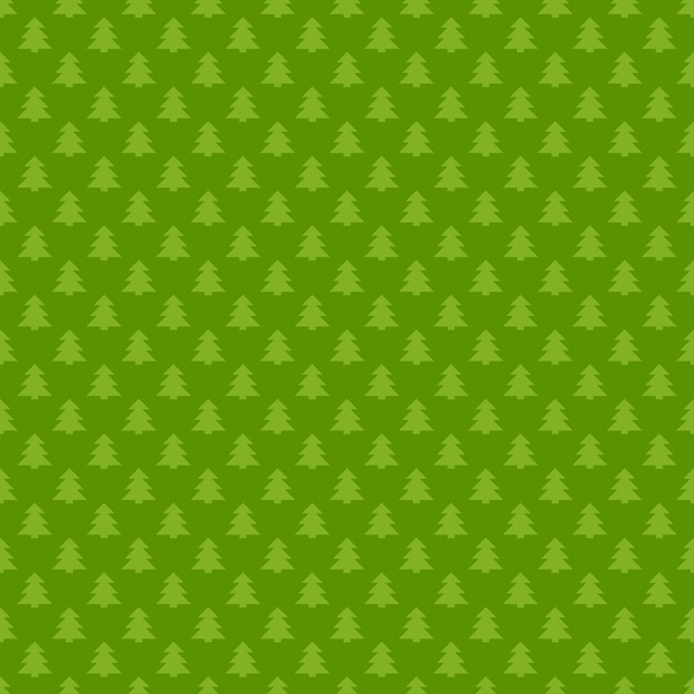Green Seamless Retro Stylized Pine Tree Forest Pattern Background Gorgeous Green Pattern Background
