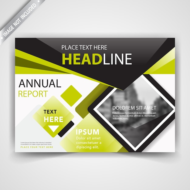 Green shape flyer cover Free Vector