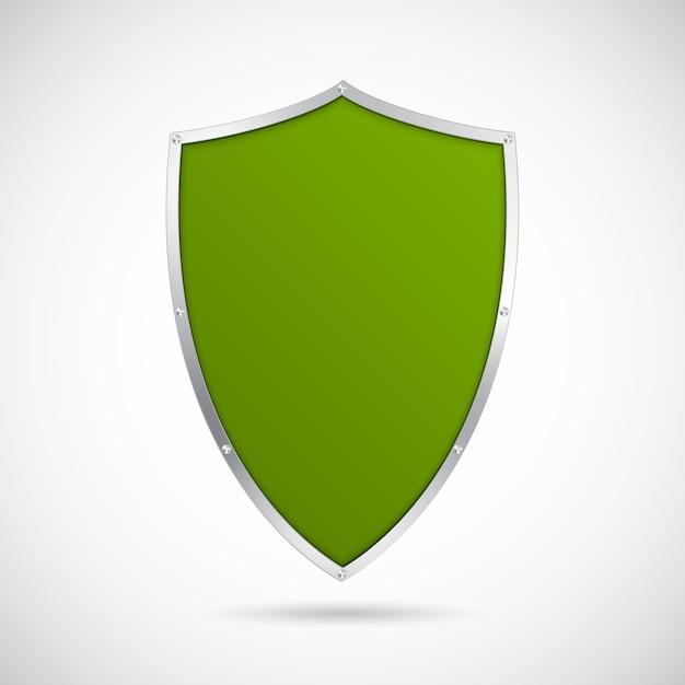 緑の盾のアイコン。 Premiumベクター