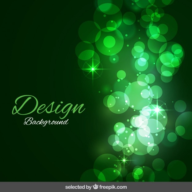 Green shiny background Free Vector