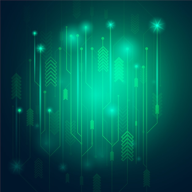 Green shiny background Vector | Free Download
