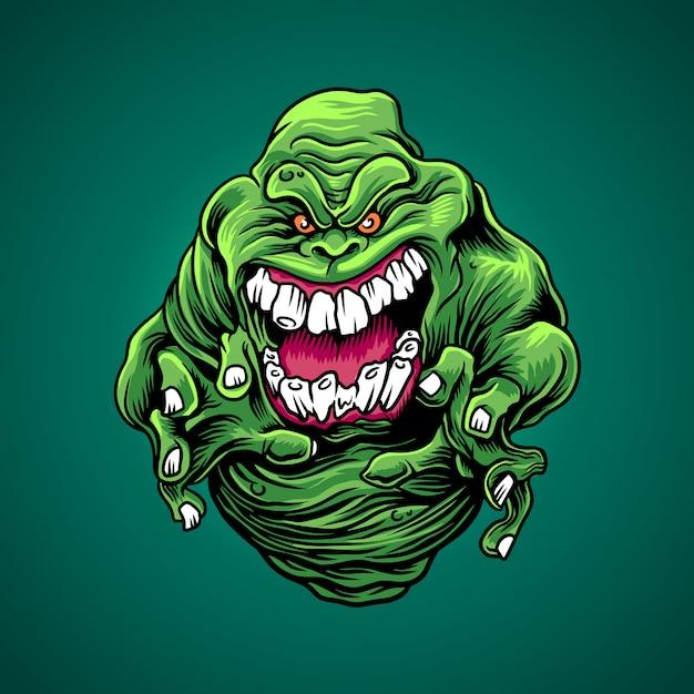 The green slime Premium Vector