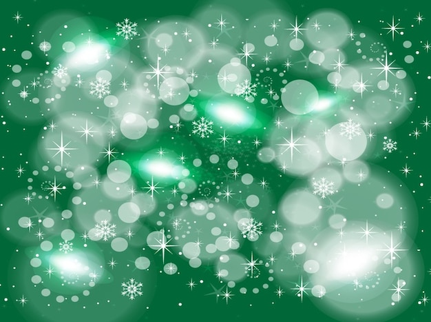 Green snow flake background design
