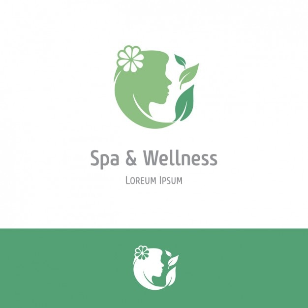 Green spa and wellness background Free Vector