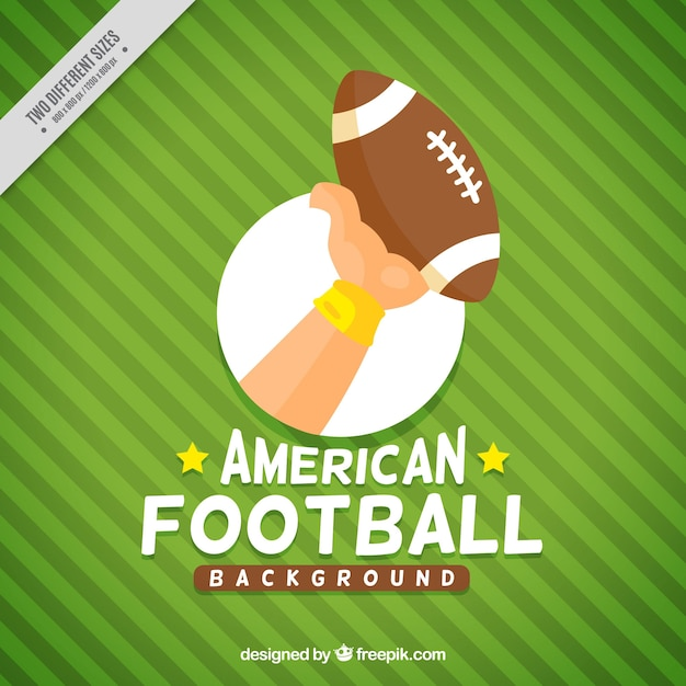 Green striped football background