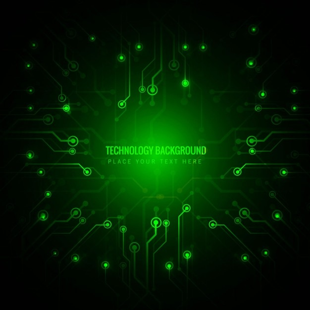 green technology background vector free download