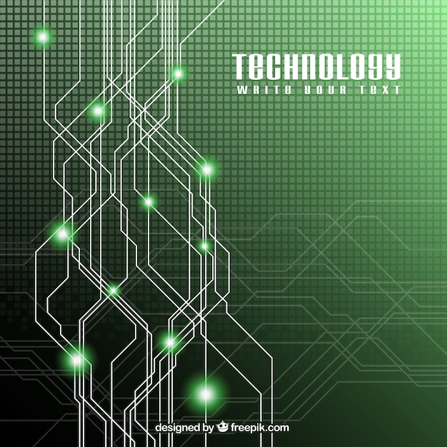 green technology background vector premium download