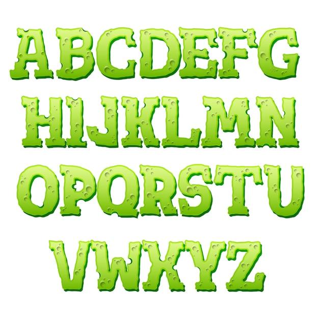 白い背景の上の緑のテキスト効果 Premiumベクター