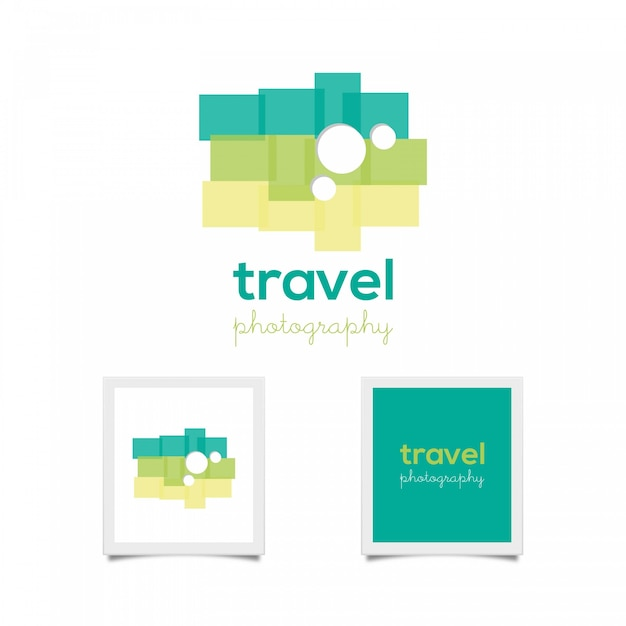 Green travel snapshot Free Vector