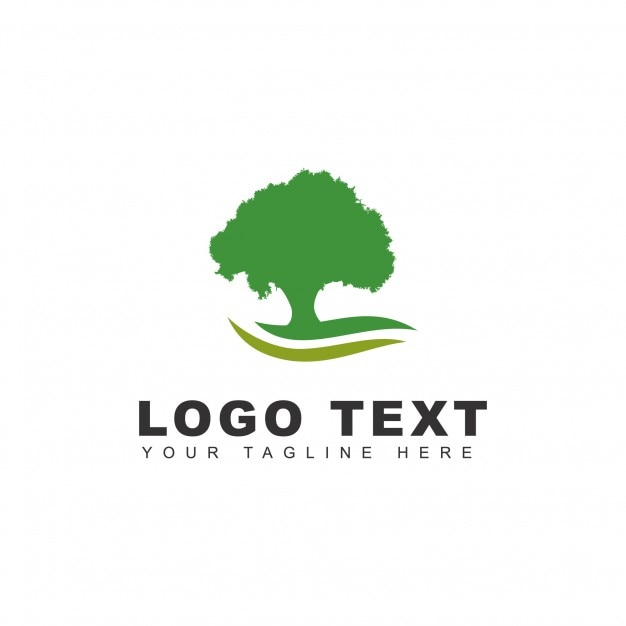 Green tree logo Free Vector