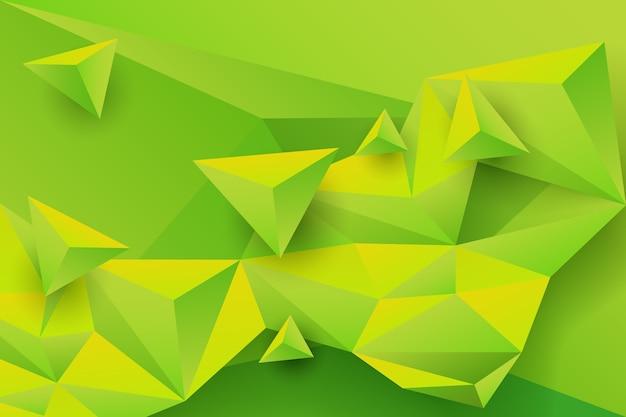 Зеленый треугольник фон с яркими цветами Бесплатные векторы