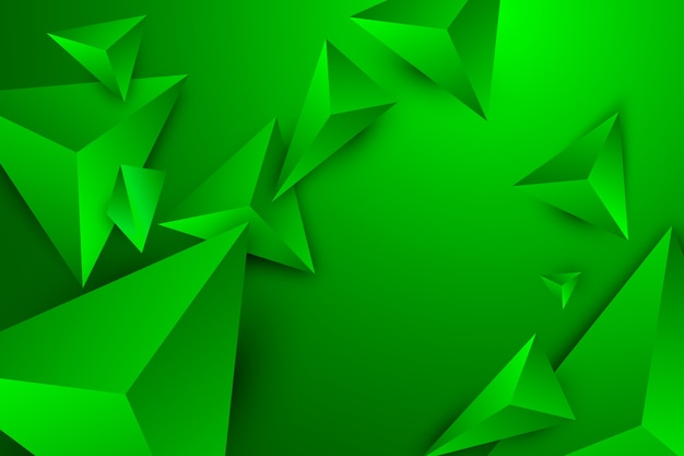 Green triangle background with vivid colors Free Vector