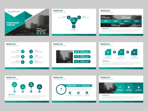 green triangle presentation templates, infographic elements template, Report Presentation Template, Powerpoint templates