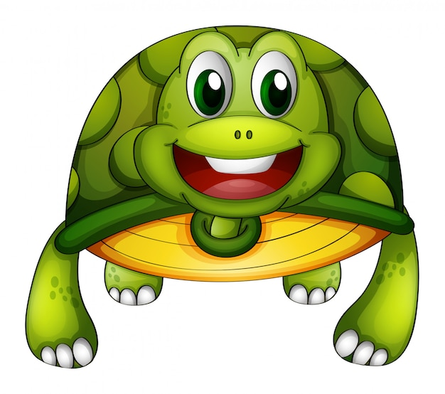A green turtle Free Vector