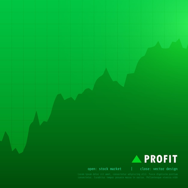 Green uptrend market Free Vector